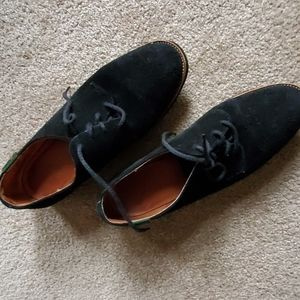 BASS Suede black loafers